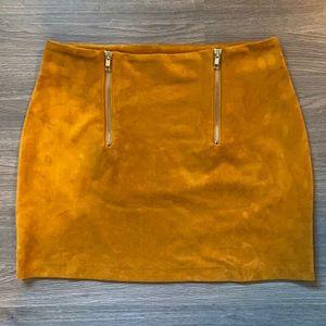 FOREVER 21 mustard mini skirt medium